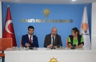 Muhammed Alan, AK Parti Midyat İlçe Teşkilatını...