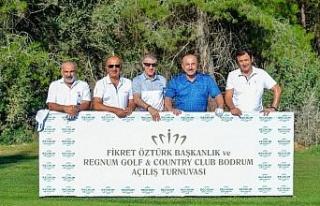 Bodrum'da iki golf turnuvası bir arada düzenlendi