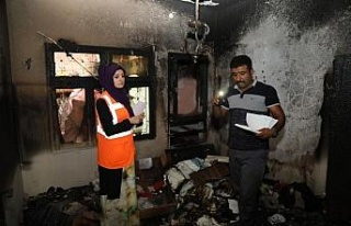 Yangında kızlarını kaybeden Suriyeli aileye belediye...