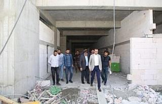 Başkan Vekili Bedirhanoğlu, hastane inşaatını...