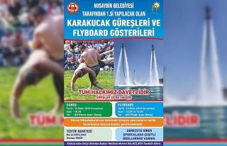 Nusaybin'de Karakucak Güreşleri ve Flyboard gösterisi...