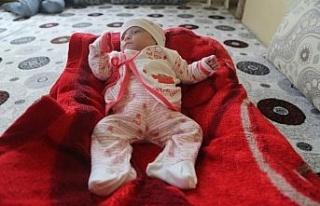 285 gram doğdu, yaşama tutundu