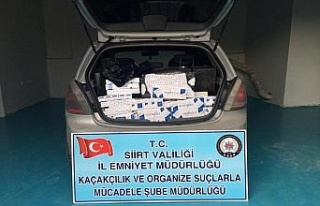 Siirt'te kaçak sigara operasyonu