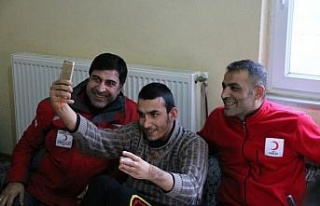 Türk Kızılayından Siirtli aileye konteyner desteği