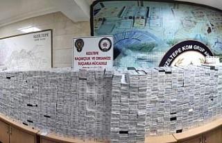Kızıltepe'de 26 bin 400 paket kaçak sigara...
