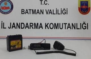 Batman'da PKK'lı teröristlere ait telsiz bulundu
