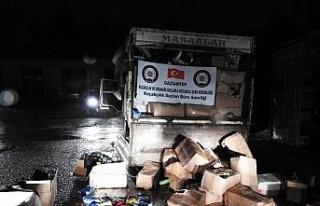 Gaziantep'te 7 ton 375 kilogram kaçak nargile tütünü...