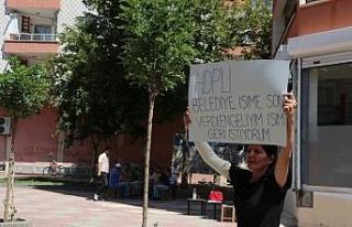 Belediyenin işten çıkardığı kadından HDP önünde...