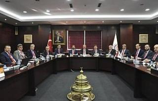 Gaziantep ve Kilis'in iş dünyası temsilcilerinden...