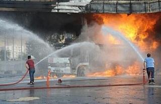 Petrol istasyonunda yangın
