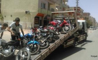 Midyat ilçesinde, motosikletlere yönelik denetim yapıldı.