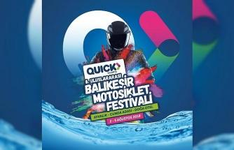 Quick Sigorta, 8. Uluslararası Balıkesir Motosiklet Festivali'nin ana sponsoru