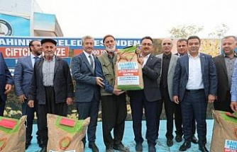 Şahinbey Belediyesinden çiftçilere tohum desteği