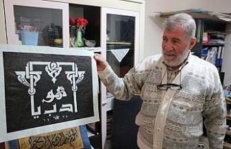 Suriyeli çift hat sanatıyla hayata tutunuyor