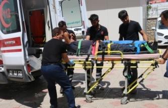 Kesmeye çalıştığı boğanın altına kalan kişi ağır yaralandı