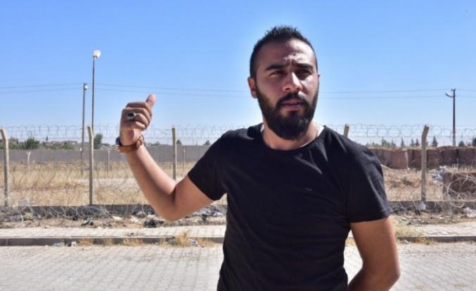 Sınırda tek kişilik terör örgütü protestosu